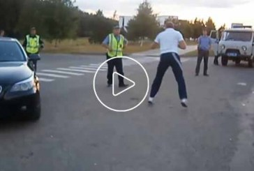 A talaj részeg sofőr és a rendőrök csatája…