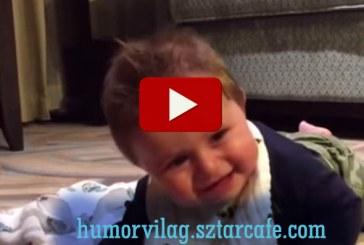 Héthónapos kisbaba imádnivaló nevetése mosolyt csal az arcodra! :)