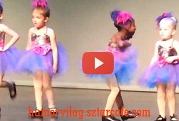 Kis balerina lány vicces tánca – Ezen besírsz!