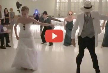 A legjobb esküvői tánc amit valaha láttam – A vőlegény mozgása hatalmas!
