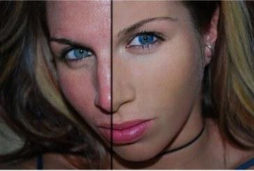 Photoshop hatása a lány arcán…