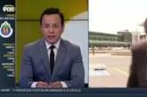 Élő adásban ütötték el a riportert