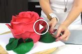 Elámulsz, ha meglátod, milyen rózsatortát készített ez a nő! – Videó