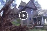 Egy elhagyatott házat vettek észre az erdőben – Figyeld mi tárul eléjük, amikor közelebb mennek