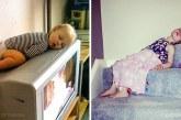 15 vicces fotó, ami bizonyítja, hogy a gyerekek bárhol és bármikor képesek elaludni
