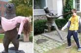 20 turista, aki tudja hogyan kell pózolni a szobrokkal