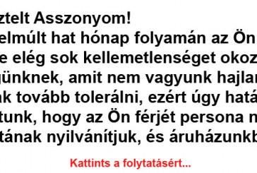 A Teszkóból kitiltott férfi levele, avagy ezen röhög most az egész magyar internet Vicc